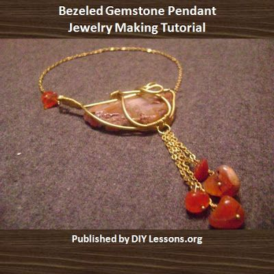 Free bezeled gemstone pendant jewelry making tutorial scheduled via jewelry making tutorials learn how to make jewelry beading wire jewelry classes free how to make a bezeled gemstone pendant tutorial aloadofball Image collections