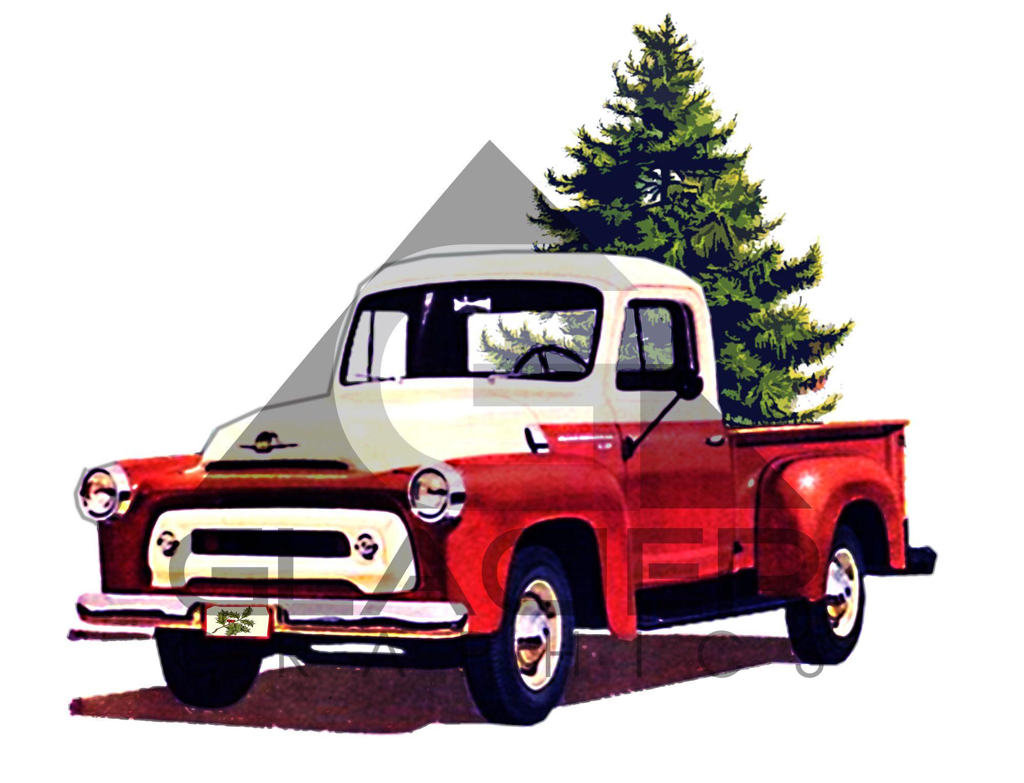 Vintage International Truck Christmas Tree Png File Etsy International Truck Christmas Truck Old Trucks