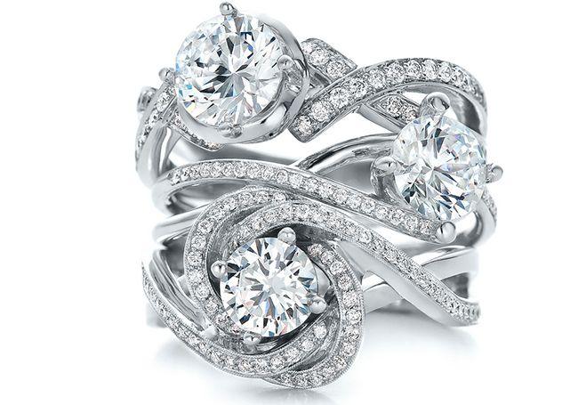 Stack of Bling Design Your Own Wedding Rings Online Joseph