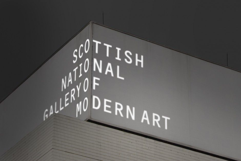 Projected Building Signage For The Scottish National