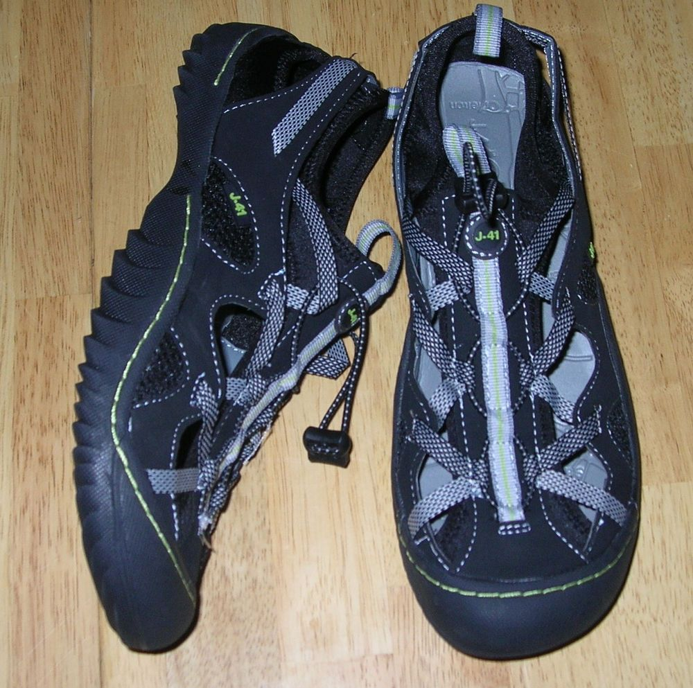 06185f88413b JEEP J-41 Arries Adventure On Women 8 Traction Sole Trail Rated Water Shoe  Black  Jeep  HikingTrail