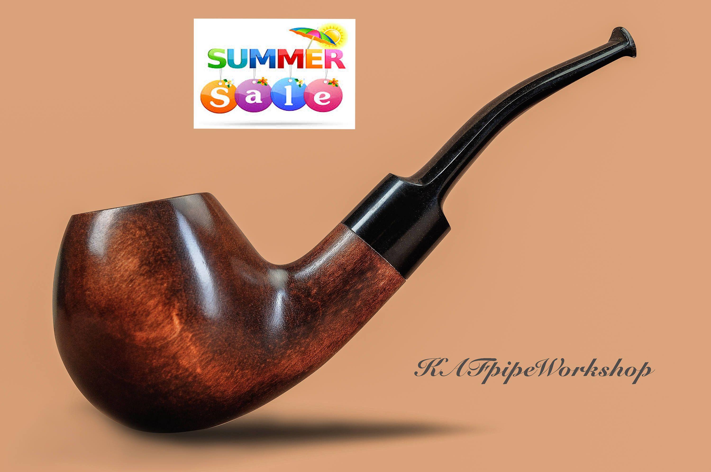 Smoking Pipe Wooden Sherlock Holmes Style Kaf202 Classic Bent