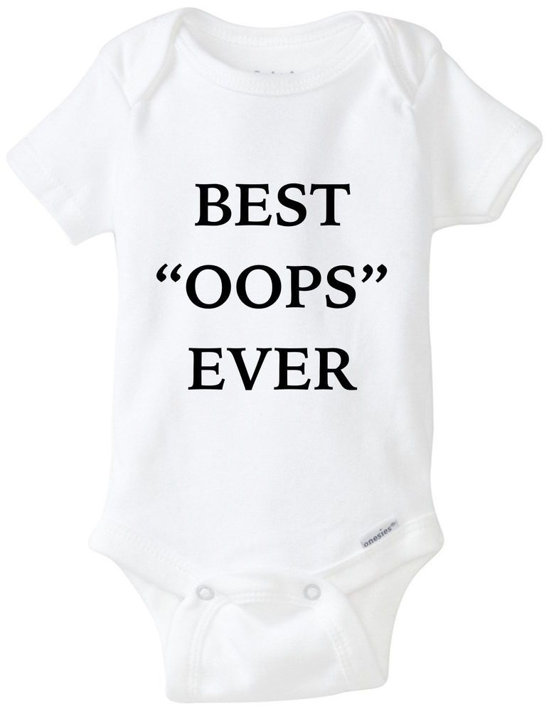 7a37e954e Best Oops Ever Baby Gerber Onesie Bodysuit Shirt Funny Shower Gift Accident