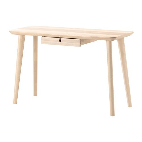 Ikea Lisabo Ash Veneer Desk Furniture Ikea Desk Ikea