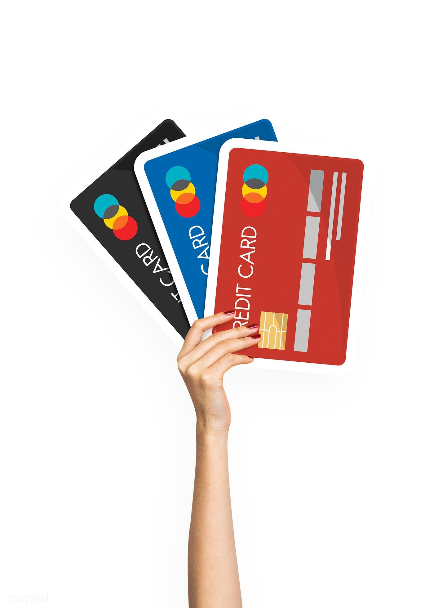 Download premium image of Hand holding credit card clipart