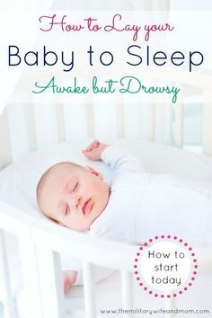Like I said in my post Top 10 Newborn Sleep Tips, laying your baby down awake but drowsy is probably the hardest, yet most rewarding part of sleep training a baby.