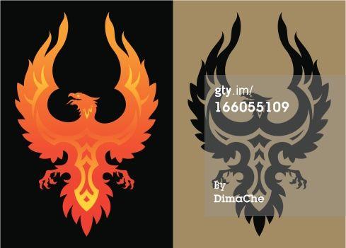 Royalty-free Vector Art: Stylized phoenix bird