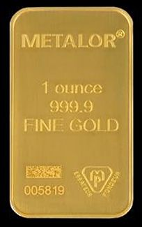1 Oz Metalor Minted Gold Bar 999 9 Fine Note The Datamatrix Code Above The Serial Number Similar To A Qr Code With Gold Bullion Bars Gold Bullion Gold Bar