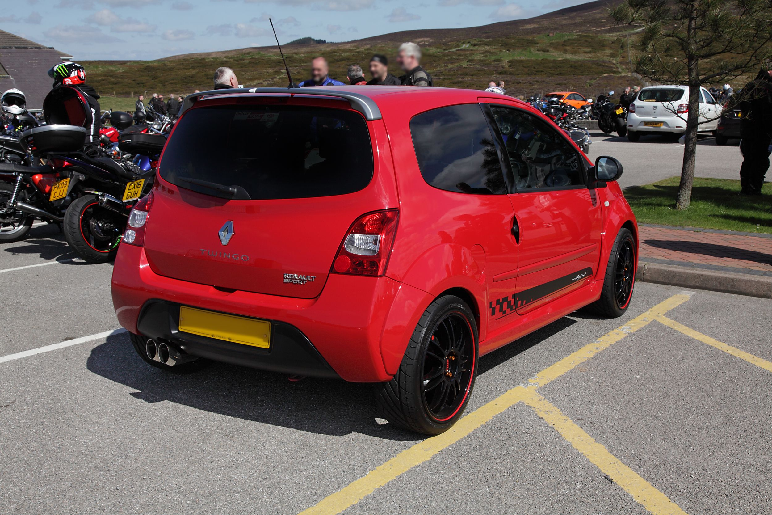 The Twingo All Polished Up And With A Rather Hot Engine After The
