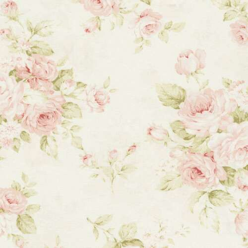 Pink Floral Fabric By The Yard Shabby Chic Wallpaper Shabby Chic Curtains Chic Wallpaper