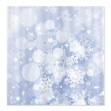 Snowflake Winter Shower Curtain Winter Shower Snowflake Shower