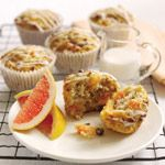 grapefruit walnut muffins