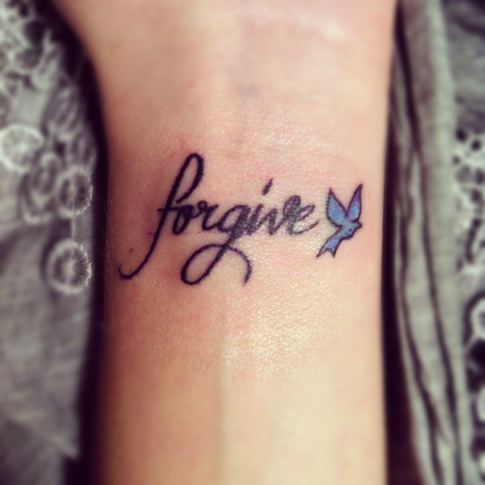 Freedom in forgiveness tattoo