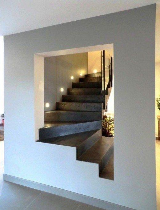 Contemporary Stairs Design 117 DecorCasa Pinterest Escalera