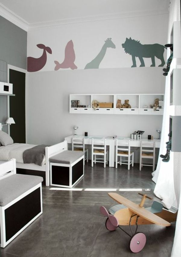wandtattoo kinderzimmer gestalten junge zimmer. Black Bedroom Furniture Sets. Home Design Ideas