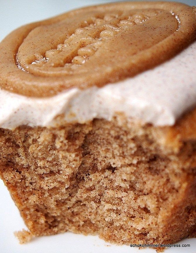 Zimt-Muffins mit Zimtcreme und Zimt-Marzipan (habe ich Zimt gesagt?) - Schokohimmel