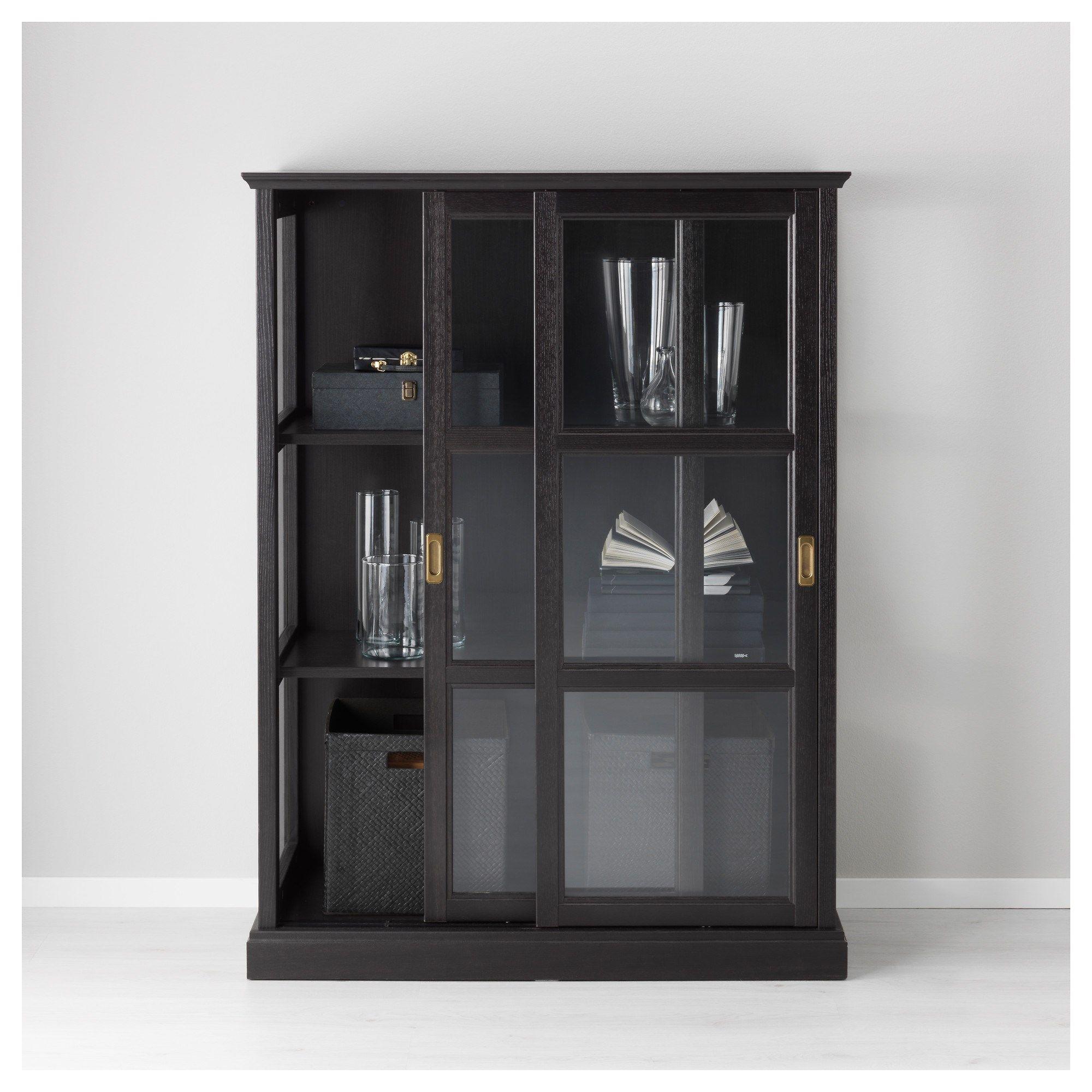 MALSJ– vitrin siyah 105x141 cm IKEA Türkiye
