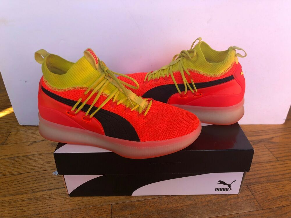 low priced 30c07 ff594 PUMA CLYDE COURT DISRUPT (Red Blast) Men's Size 10 (191715 ...