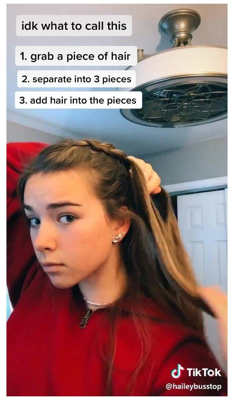 easy hairstyles for long hair tik tok