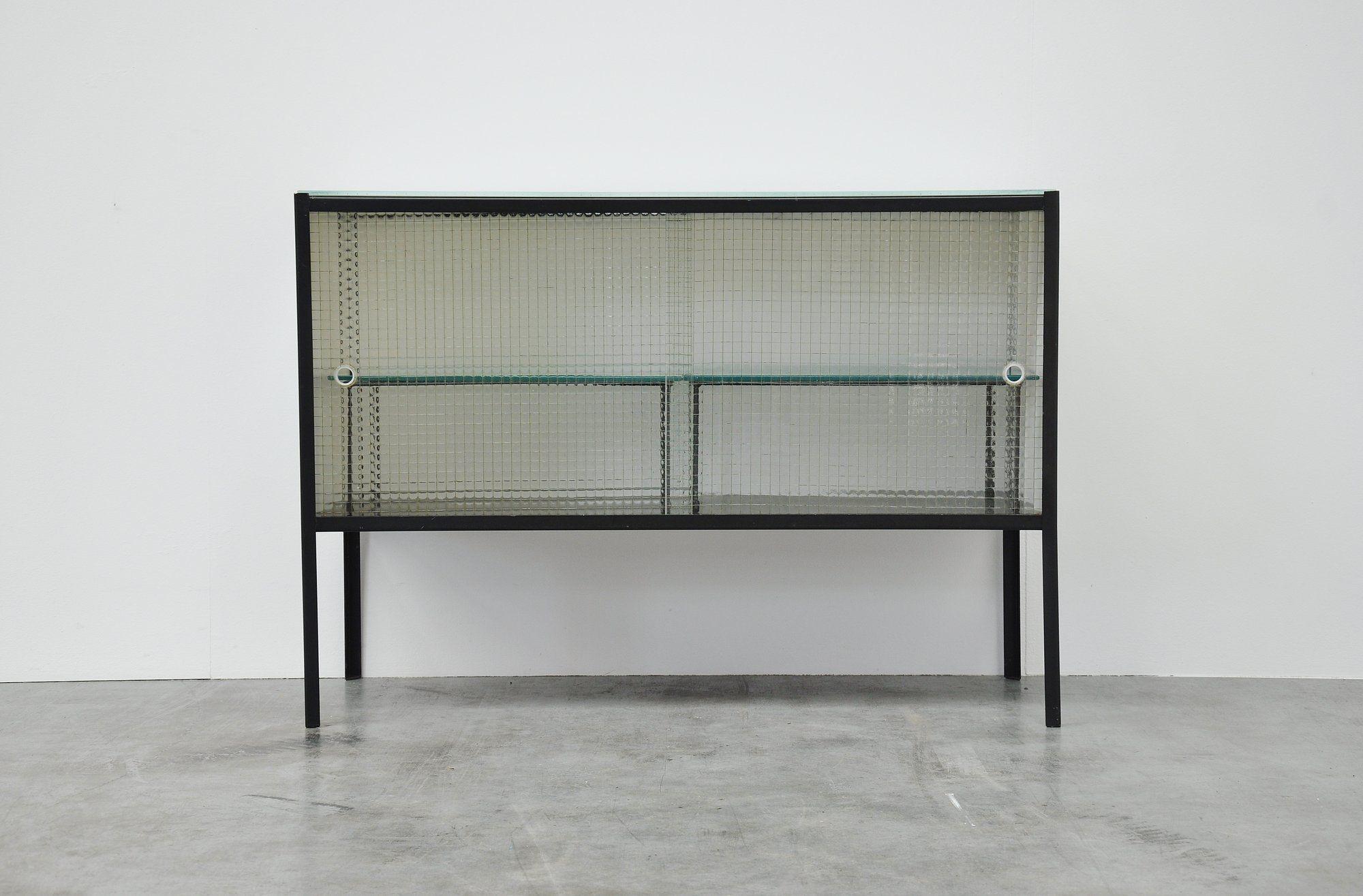 Bas van pelt glass and metal kitchen cabinet tableudesk