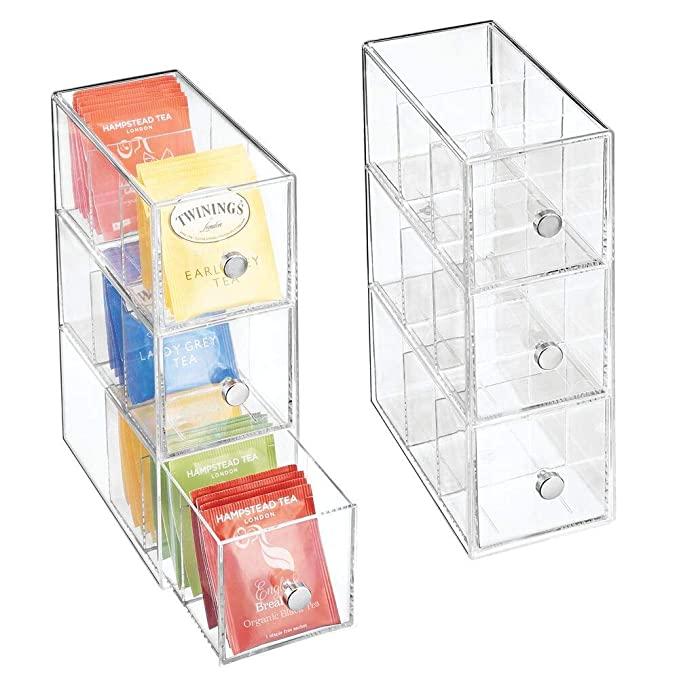 Amazon Com Mdesign Plastic Kitchen Pantry Cabinet Countertop