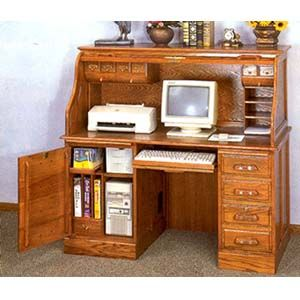 Beautiful Roll Top Computer Desk Collection