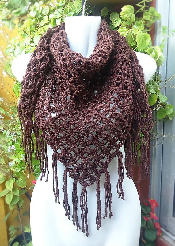 Bufanda triangular crochet - Triangle Scarf by Suhyza | Mis tejidos ...