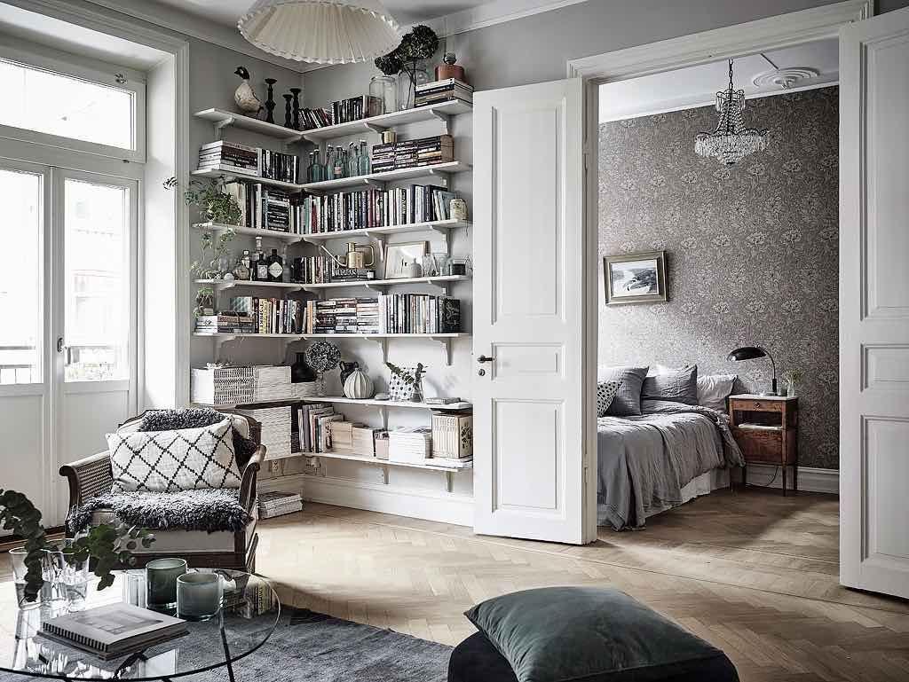 Wohnzimmer mit fluegeltueren zum schlafzimmer interior design pinterest - Romantisches wohnzimmer ...