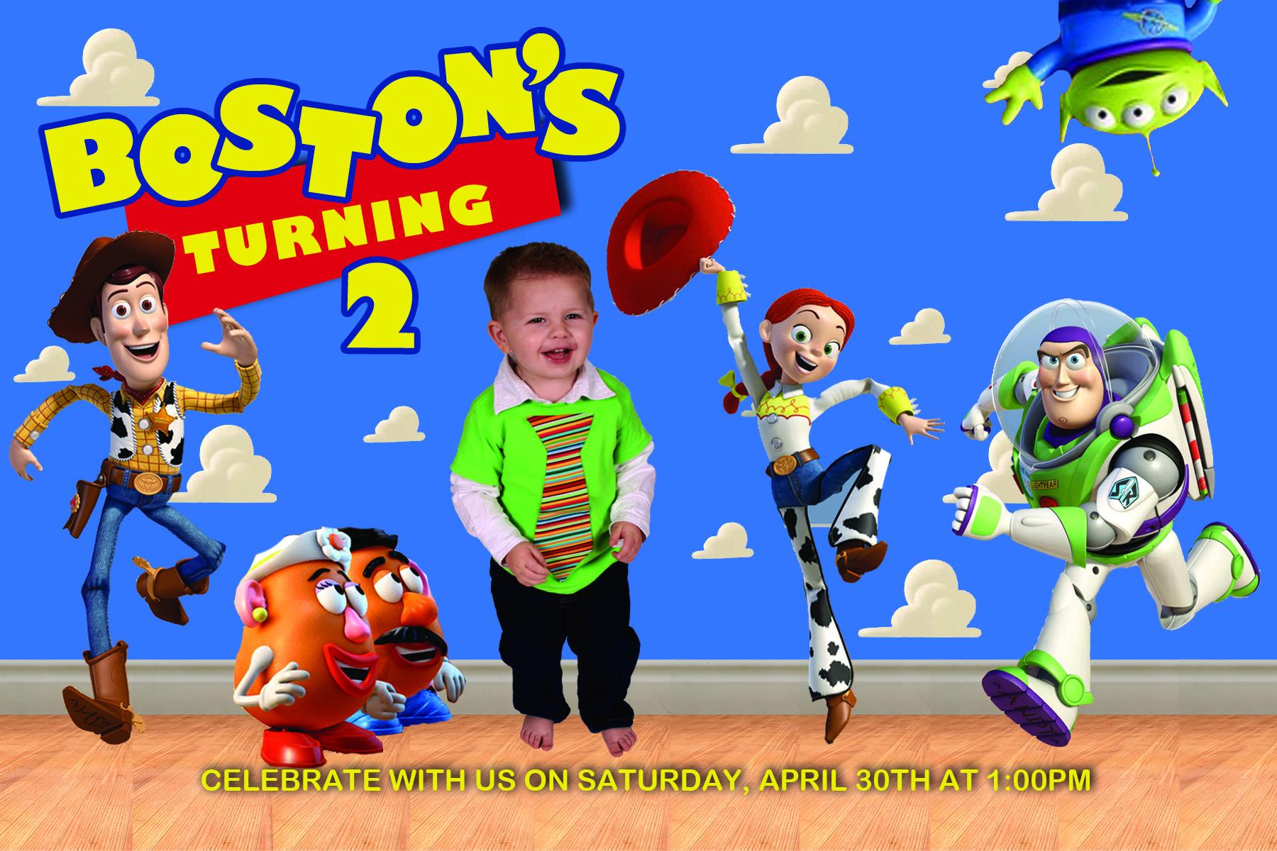 Toy Story Birthday Invitation shop Pinterest