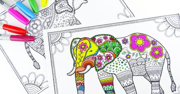Free Elephant Coloring Pages for Adults Mandala elephant, Free - new elephant mandala coloring pages easy