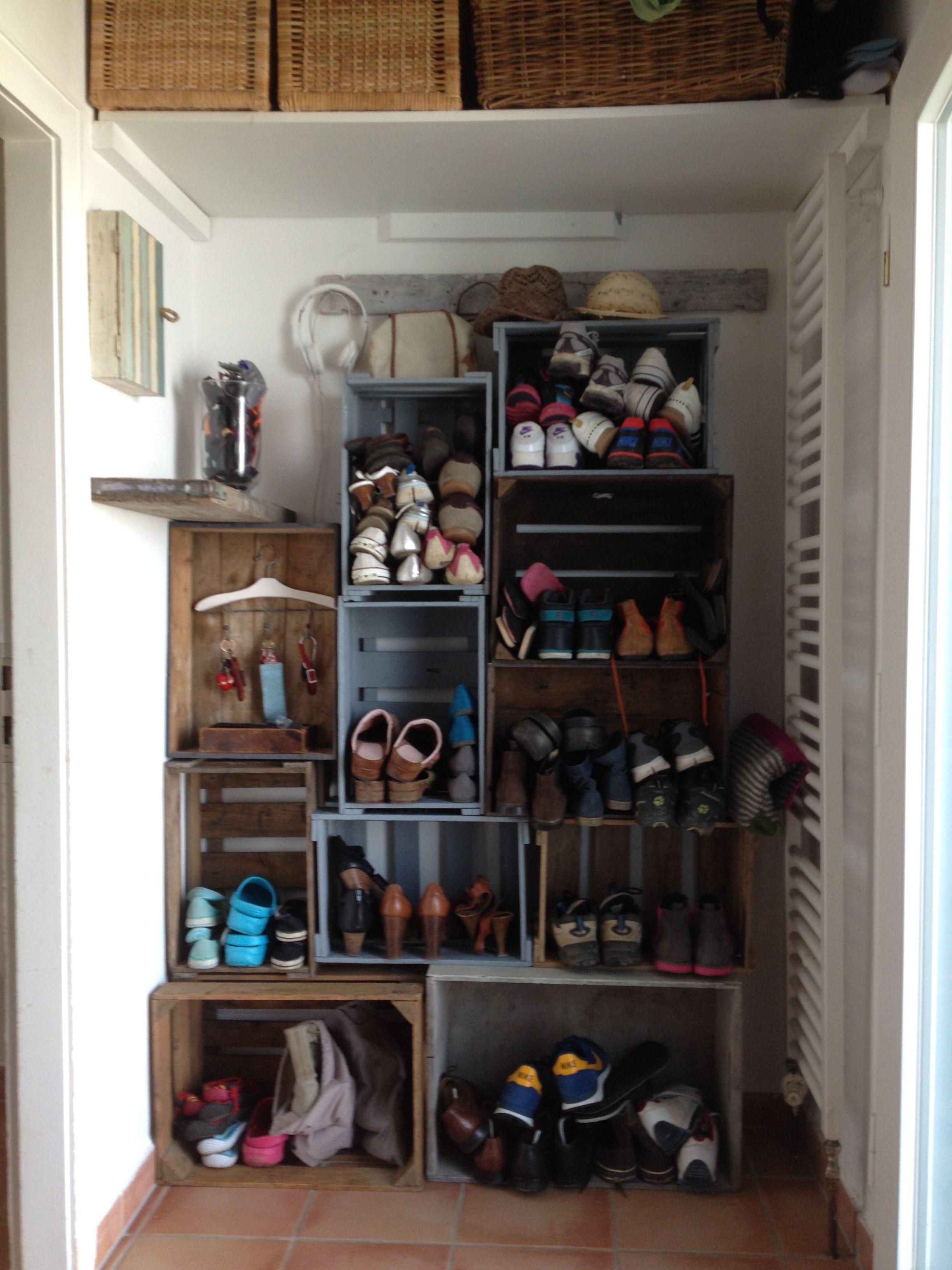 Schuhschrank aus alten Holzkisten  Schuhschränke ...