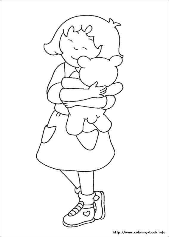 coloring pages for kids - Caillou Gilbert Coloring Pages