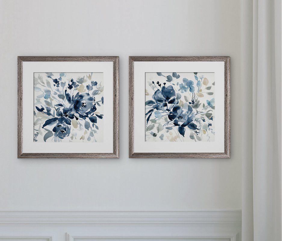 Ocean Eye I 2 Piece Picture Frame Print Set On Paper In 2021 Framed Prints Print Sets Floral Art