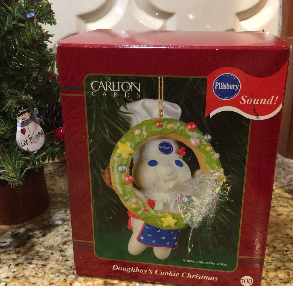 Pillsbury Doughboy Cookie Christmas Ornament Sound Heirloom Carlton