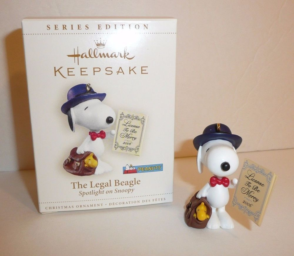 The Legal Beagle Spotlight On Snoopy Holiday Ornament Woodstock