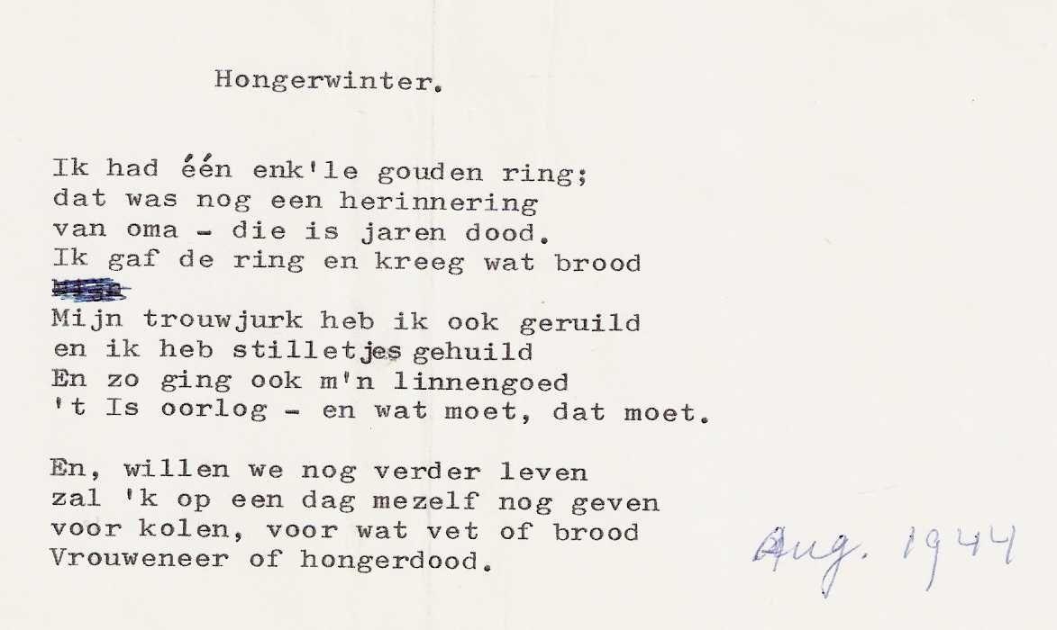 Onwijs gedicht Hongerwinter | Oorlog, Gedichten, Herinneringen EM-46