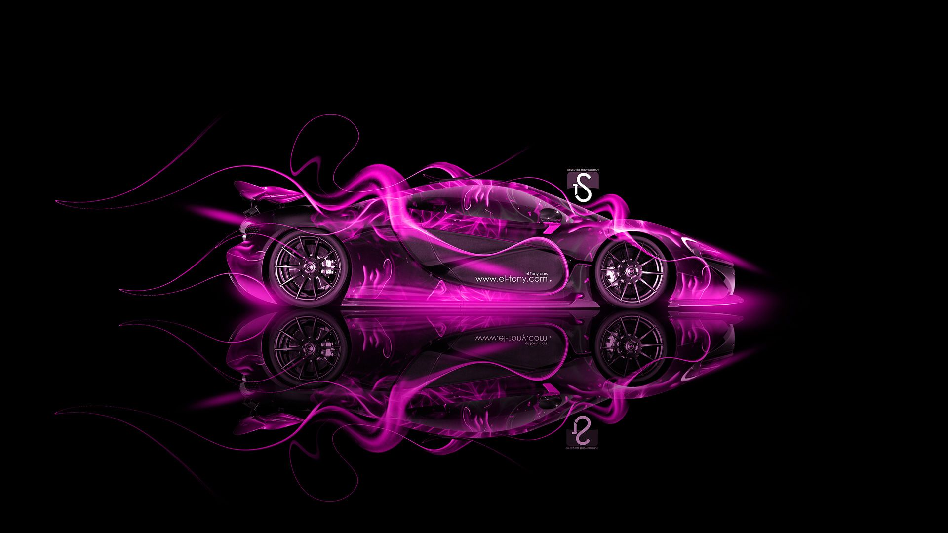 Attirant McLaren P1 Fire Abstract Car 2013