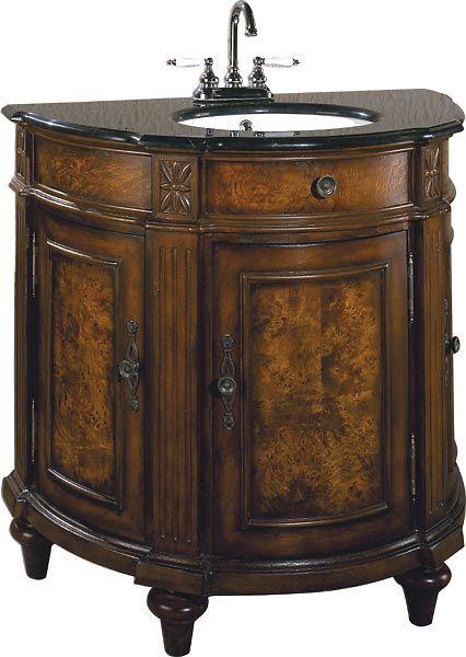 Burl Wood Bathroom Vanity Furniture Manchester 36l X 20 D 35