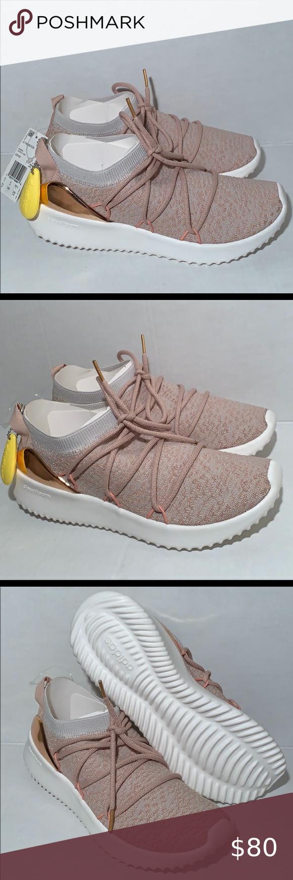rose gold cloudfoam adidas