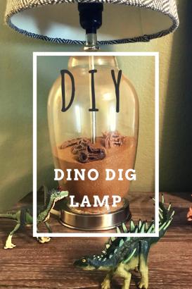 DIY Dinosaur Dig Lamp | Dinosaur bedroom, Diy furniture