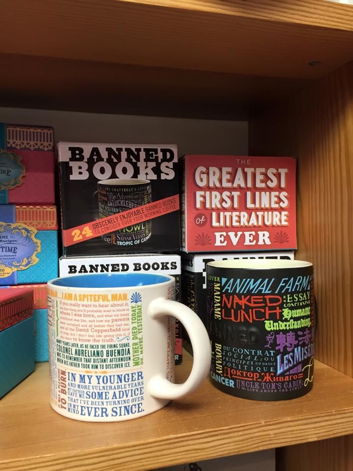 Banned Books & Greatest First Lines of Literature Ever Mugs