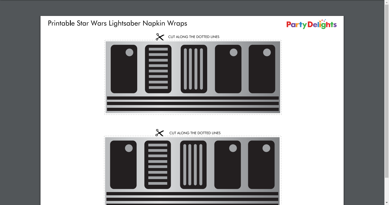 photo regarding Lightsaber Printable named Lightsaber-Napkin-Wraps-Printable.pdf Kid shower within just 2019