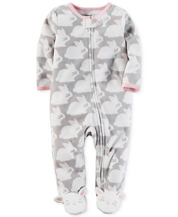 Infant girls size 6months Nwt carters footed fleece pajamas