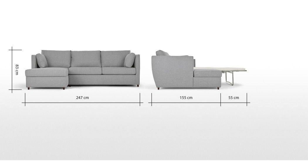 Made Regal Blue Velvet Corner Sofa Bed Sofa Bed With Storage