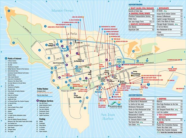 map of old san juan puerto rico | Top Places To Go Old San ...