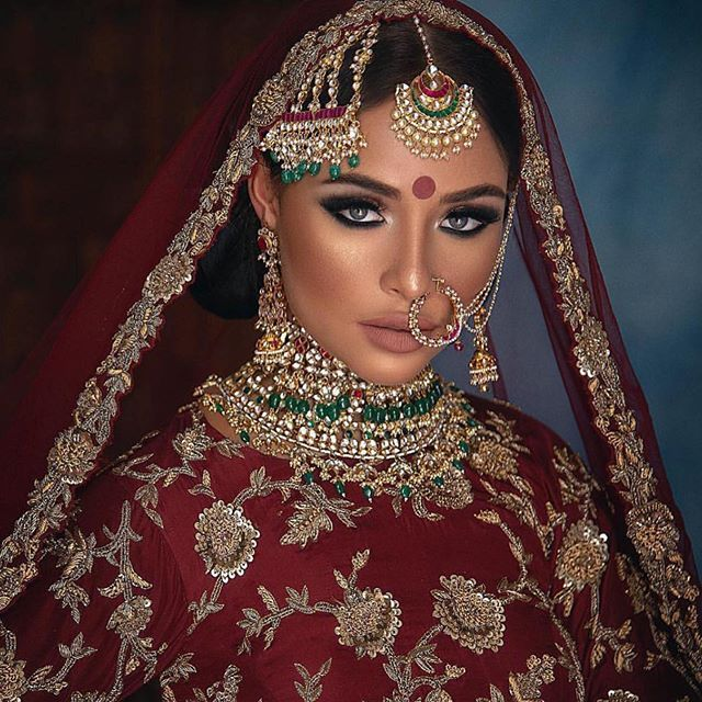 """Studio Elan Makeup and Hair on Instagram: """"We cant get over @armanmilindmakeupartist work �� the model looks stunning! A perfect look for a fall bride #bridalinspiration…"""""""