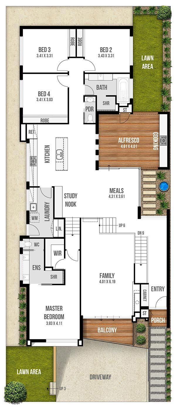 Interesting And Unique Narrow Lot House Plans By Boyd Design Perth Narrow House Plans Narrow Lot House Plans Cottage Floor Plans
