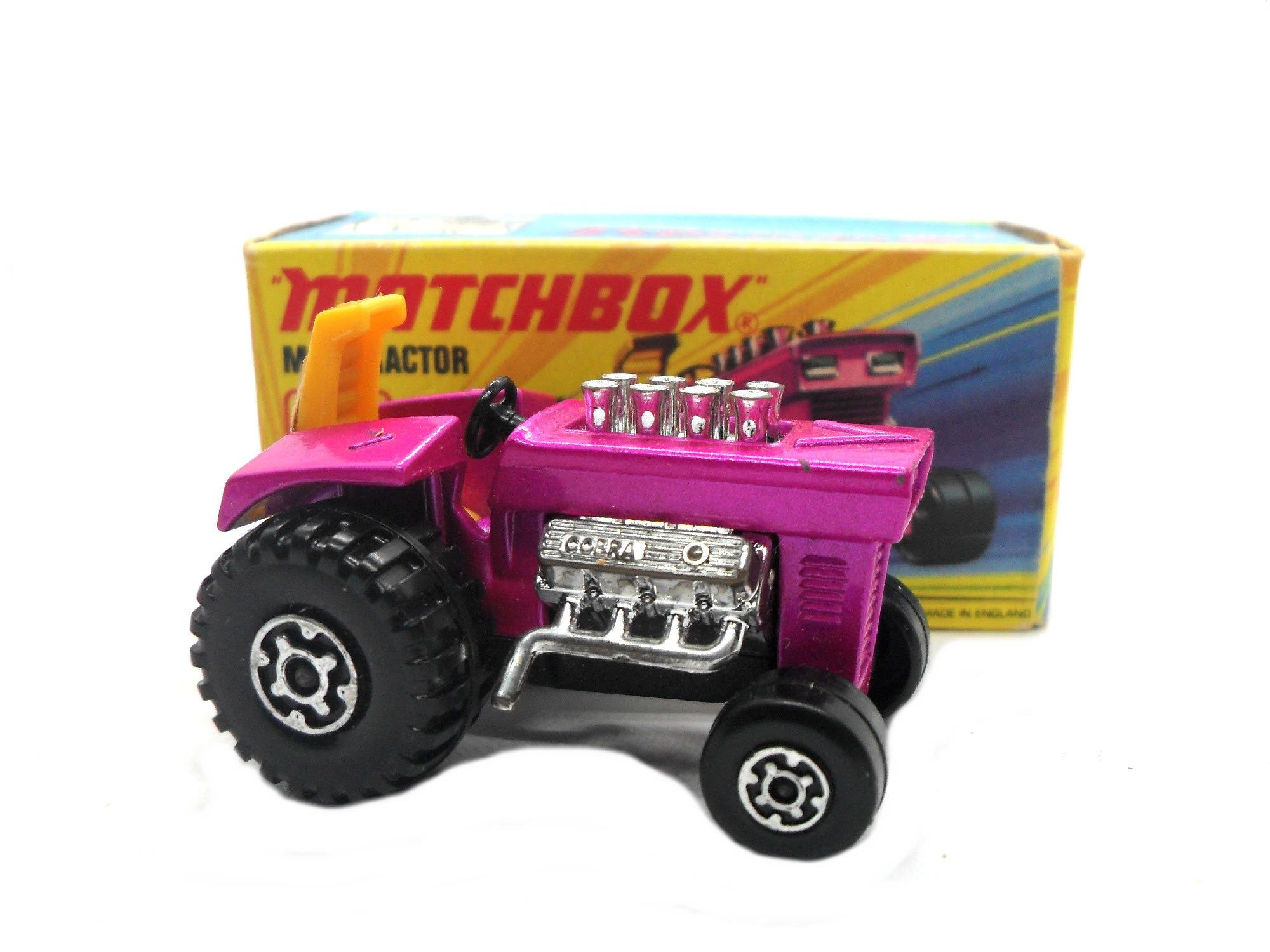 1970s Vintage Matchbox 25d Superfast Mod Tractor toy