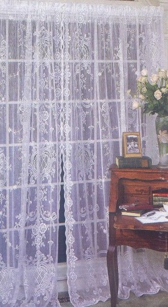 Olivia Scottish Cotton Lace Curtains | Decorating with Lace ...