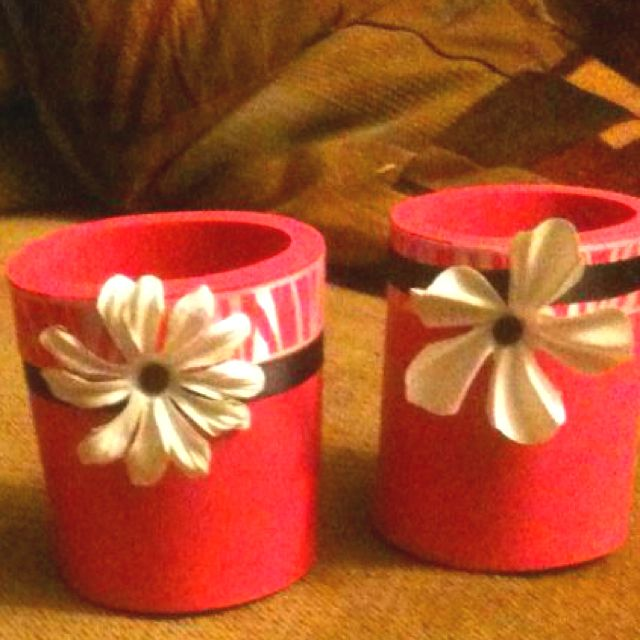 Handmade coozies for shower favors
